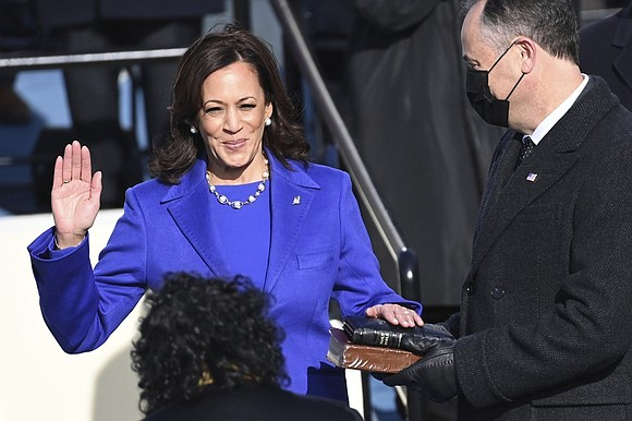 Vice President Kamala Harris broke the barrier Wednesday that has kept men at the top ranks of American power for ...