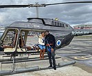 "Taking a helicopter flight over Manhattan for his 29th birthday, Ziehi Swanson, popular New York recording artist and fitness trainer, treated himself and partner K Sheri (travel and beauty vlogger). ""My birthday was a reflective experience entering this new decade."""