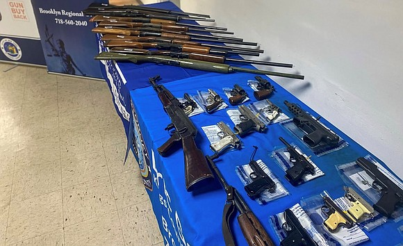 Nearly 50 firearms were turned in to law enforcement at a gun buyback event hosted by New York Attorney General ...