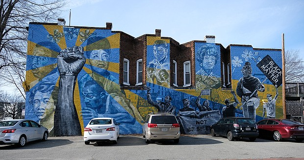 """As Black History Month gets underway, this dramatic mural provides an artistic celebration of the people and events who represent protest, progress and achievement. Location: 504 W. Broad St. in Downtown. Richmond artists Ed Trask and Jason Ford created the mural, called """"Voices of Perseverance,"""" as part of the Mending Walls RVA initiative. Launched by muralist Hamilton Glass, Mending Walls aims to bring together artists to develop projects that spark empathy and dialogue. Mr. Glass came up with the idea during the upheaval over racial justice and police misconduct that led to the removal of most of the city's Confederate statues."""