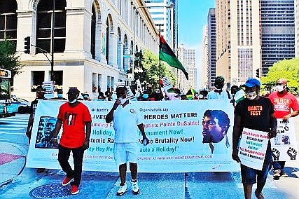 Black Heroes Matter is continuing their fight to gain more recognition for Jean Baptiste Point du Sable, the Haitian settler ...
