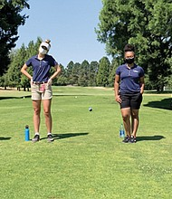 Students participating in Portland Parks and Recreation's EAGLE caddies program last year at the Rose City Golf Course in northeast Portland included (from left) Ava Arias, Lilly Varner, Kennedy Phillips and Daysi Narruhn. Sign-ups for new enrollees for 2021 are now underway.