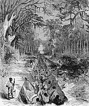 an early lithograph of digging along the I and M Canal-Courtesy Illinois Historical Society