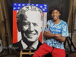 Tyler Gordon, a 14-year-old visual artist, is gaining public recognition and making himself known in the art world.