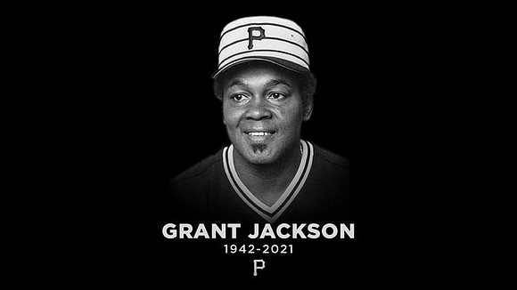 "Grant Jackson, a pitcher for the Pittsburgh Pirates' 1979 ""We Are Family"" championship team, died Tuesday, Feb. 2, 2021, of ..."