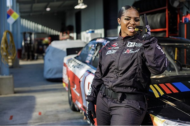 Brehanna Daniels is NASCAR's first Black woman in its pit crew.