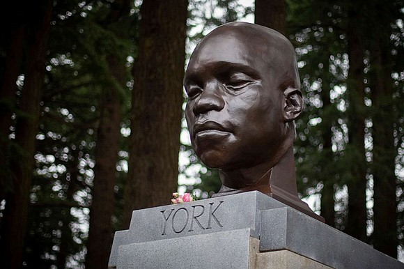 A memorial bust of York, the Black slave who was part of the Lewis and Clark expedition, has appeared at ...