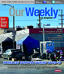 Our Weekly News Los Angeles cover art for Thursday, February, 25, 2021.