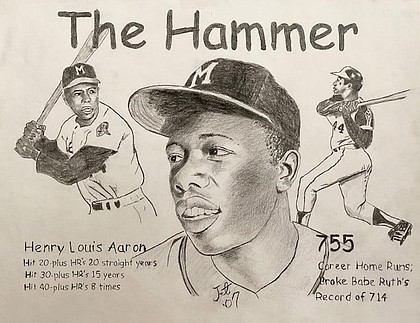 "Hank Aaron: Some may surpass ""The Hammer's"" home run totals. No one will ever surpass his style and grace."