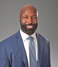 Venroy July, a principal at the law firm Miles & Stockbridge is involved in supporting his firm's Black Business Initiative, which was launched last year to eliminate or reduce barriers that disproportionately impact black entrepreneurs and businesses.