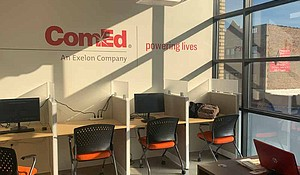 ComEd has sponsored the resource room at the Chatham Education and Workforce Center, located at 640 E. 79th St., as well as funded computers in the room, but they are looking to have a larger presence and a bigger impact in the community. Photo provided by Sofia Melgoza