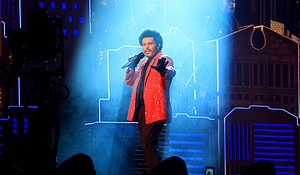 Singer The Weeknd, performs here for Super Bowl February 07, in Florida is the latest chart-topping Black performer to be snubbed by the Grammys. Credit:Mike Ehrmann/Getty Images