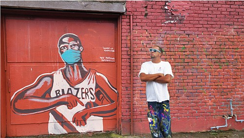 A new Portland mural with the likeness of Damian Lillard has the Blazers All Star guard wearing a mask and ...