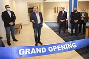 Lockport Mayor Steve Streit attended the ribbon cutting ceremony for the new hotel near the I-355 expressway exit.