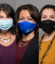 Members of the Multnomah County Board of Commissioners wear face masks to prevent the spread of the coronavirus.