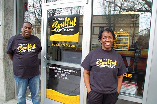 Jamie Turner works the kitchen as the owner and operator of Ja'Das Soulful Eatz, expanding her catering and food cart ...