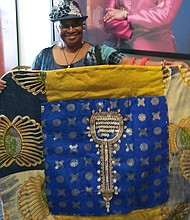 Edna Lawrence received nominations for her art. Her double award is for a hand, sewn quilt she made honoring Griot Mother Mary Carter Smith. Congrats to you Edna!