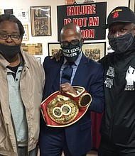 Umar Marvin McDowell with Vincent T. Pettway at New Shiloh Baptist Church. Vincent Pettway is the former IBF Junior Middleweight champ. He did a presentation for the youth in the organization, mentoring young males in the hood in Baltimore, sponsored by Cameron Miles.
