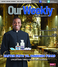 Easter Faith Vs. Pandemic Fears. Our Weekly Los Angeles Cover Art for Thursday, April 1, 2021.