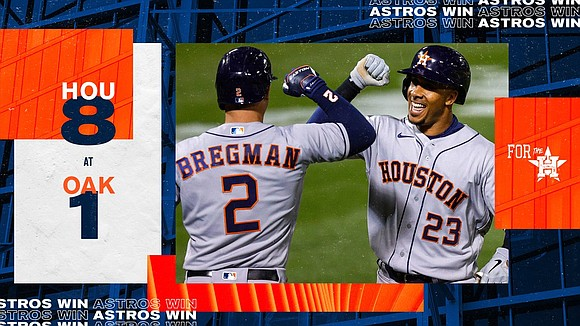 For the ninth consecutive time, the Astros won their opener which ties the longest streak in the modern era joining ...