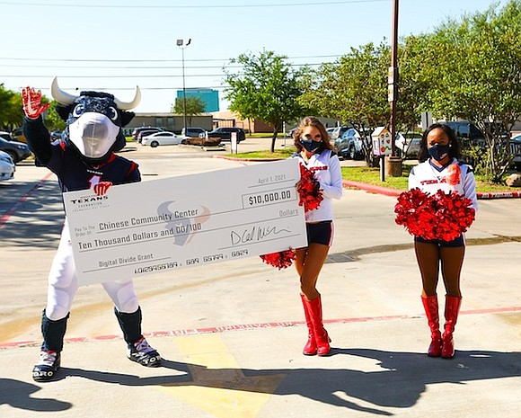 Earlier today the Houston Texans awarded $10,000 grants to the Chinese Community Center, Urban Enrichment Institute and The Pangea Network ...