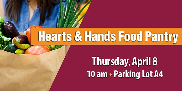The Hearts & Hands Food Pantry is offering free fruits and vegetables...
