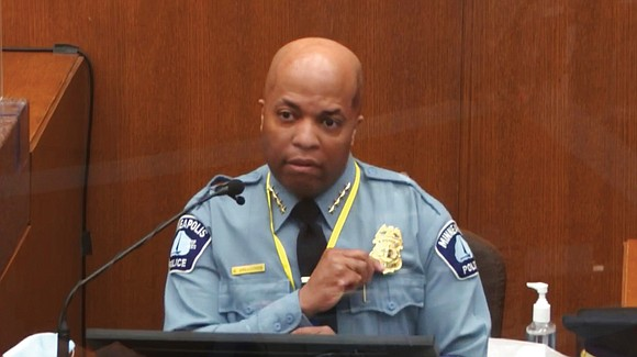 Minneapolis Police Chief Medaria Arradondo joined in condemning the actions of Derek Chauvin during the second week of the trial ...