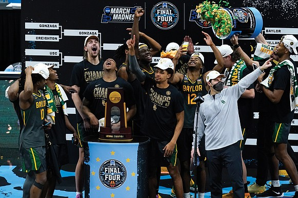 Gonzaga University was undefeated November to March, but Baylor University was undefeated in April, and that's what counts most.
