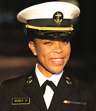 Midshipman First Class Sydney Barber made history as the U.S. Naval Academy's first Black female brigade commander. Her duties include carrying out the commandant's intent, in addition to the superintendent's. She also reports on what occurs within the brigade. Barber has been actively involved in humanitarian efforts plus she initiated a program to mentor girls of color in STEM. When Barber graduates in May, she strives to commission as a Marine Ground Corps officer.