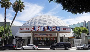 Pacific Theatres and ArcLight cinemas, home to the iconic Cinerama Dome in Hollywood, said on April 12 it will shut 300 screens across California. Mandatory Credit:Kilmer Media/Shutterstock
