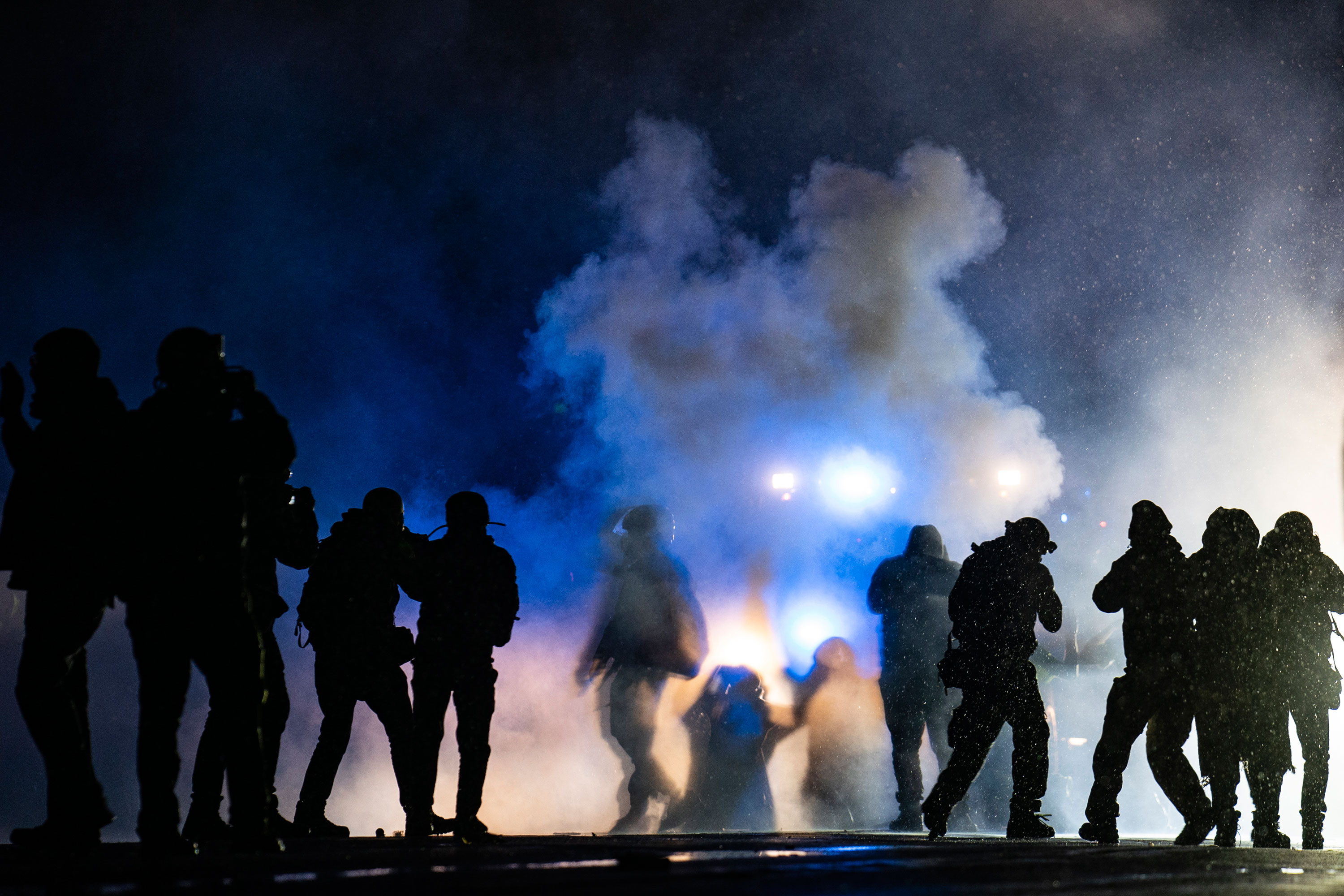 US protesters rally for third night over killing of Black