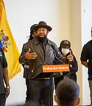 Anti-violence advocates at New Jersey Gov. Phil Murphy's gun reform unveiling
