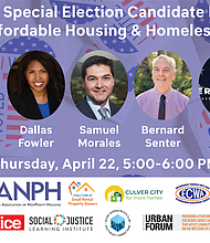AD 54 Housing Candidates Forum will take place on Thursday, Apr 22.