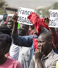 Mali protest against French