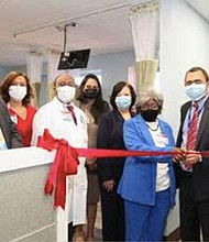 A ceremonial ribbon-cutting took place in the NYC Health + Hospitals/Lincoln's Comprehensive Cancer Center to open its newly improved state-of-the-art Infusion Center, an 11-chair unit which primarily provides care to cancer patients receiving chemotherapy, immunotherapy and biological therapies.