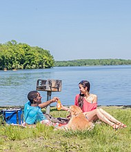 Lake Nockamixon in Bucks County, Pennsylvania is an ideal spot for a picnic
