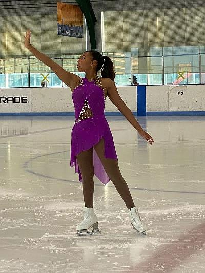 The participants in Figure Skating in Harlem (FSH) spent their days doing their schooling online but were able to get ...