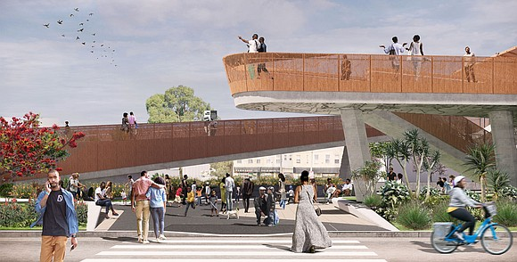 The still uncompleted Destination Crenshaw project...