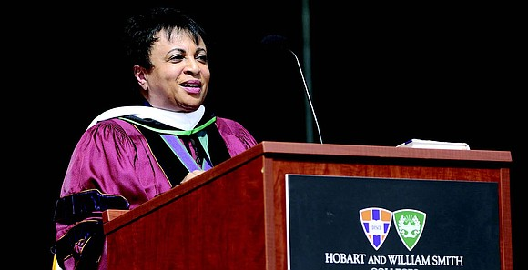 During the 2021 Commencement exercises at Hobart and William Smith Colleges, Librarian of Congress Carla Hayden became the 42nd recipient ...