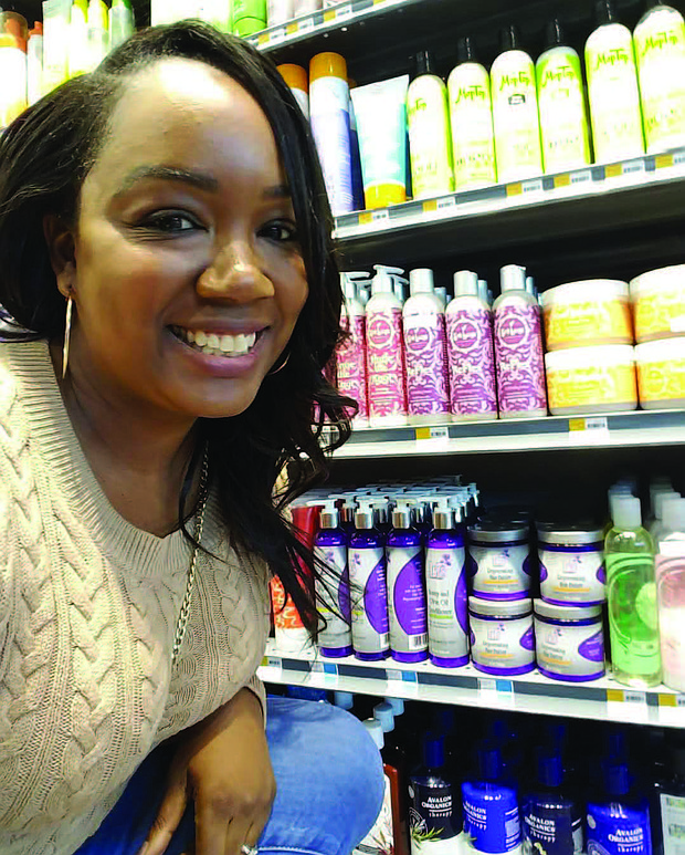Iris Nichole Patterson created a haircare line, Iris Botanicals, LLC, after losing her hair from having a glue-in weave removed. Photos provided by Iris Patterson