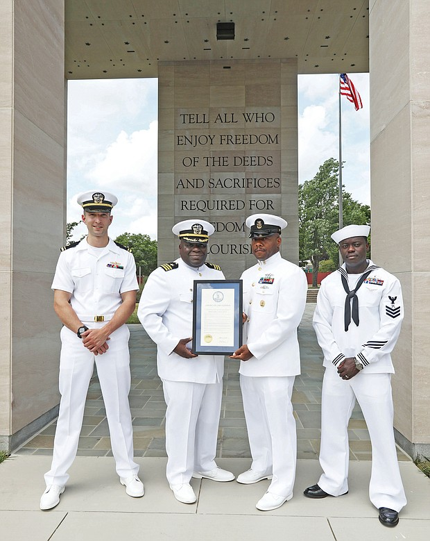 Recognizing a naval pioneer/The late Adm. Samuel L. Gravely Jr., a Richmond native who was the first African-American to reach the rank of admiral and the first African-American to command a U.S. Navy fleet, was remembered and honored Wednesday during a ceremony at the Virginia War Memorial commemorating the 50th anniversary of his promotion to the rank of admiral.