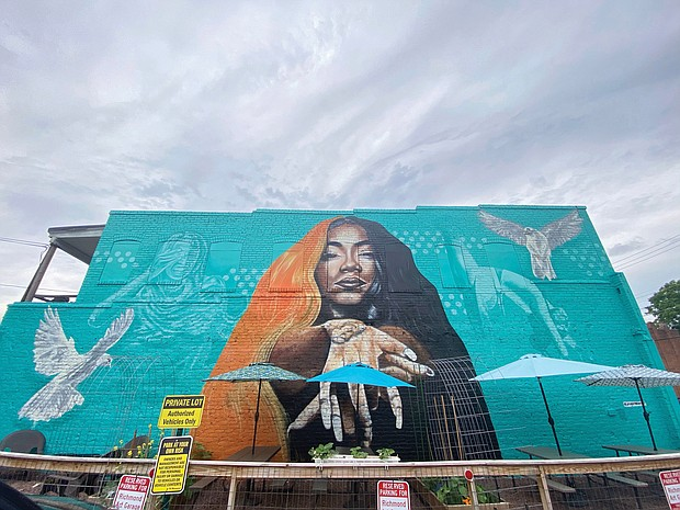 """A mural honoring the late rapper and social media influencer Braxton """"Brax"""" Baker is on the side of Da Spot Recording Studio at 213 W. Brookland Park Blvd. The mural, which will be formally unveiled Saturday, June 5, was created by Jason Ford."""