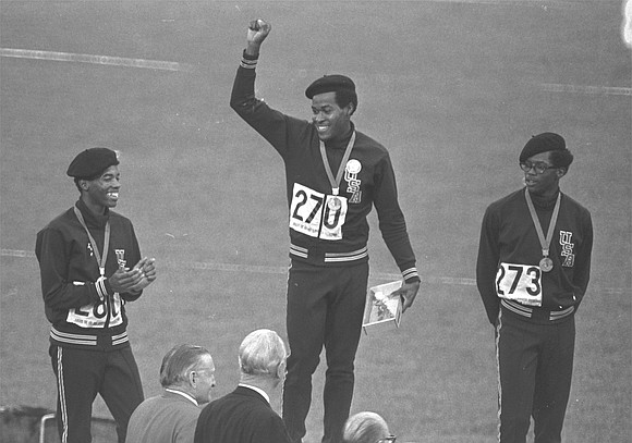 Lee Evans, the record-setting sprinter who wore a black beret in a sign of protest at the 1968 Summer Olympics ...