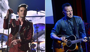 Brandon Flowers, the frontman of The Killers, told Rolling Stone that Bruce Springsteen has greatly influenced him as a musician. Mandatory Credit:Getty Images