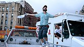 """Lin-Manuel, left, and Chris Jackson in a scene from """"In the Heights."""""""