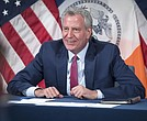 Mayor Bill de Blasio holds a media availability with Deputy Mayor J. Phillip Thompson, Strategic Policy Initiatives and Executive Director Sideya Sherman, Task Force on Racial Inclusion and Equity. City Hall. Thursday, June 17, 2021.