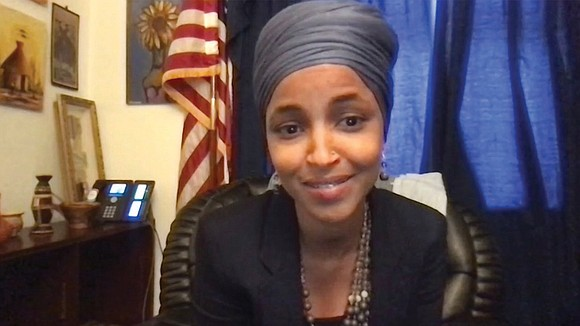 Congresswoman Ilhan Omar of Minnesota thanked Lutheran Immigration and Refugee Service during an online event June 17, in the name ...