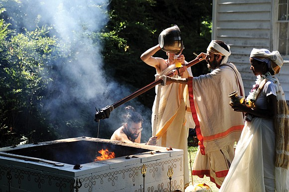 A Hindu group that had hoped to build a temple on a former plantation in Hanover County held a ceremony ...