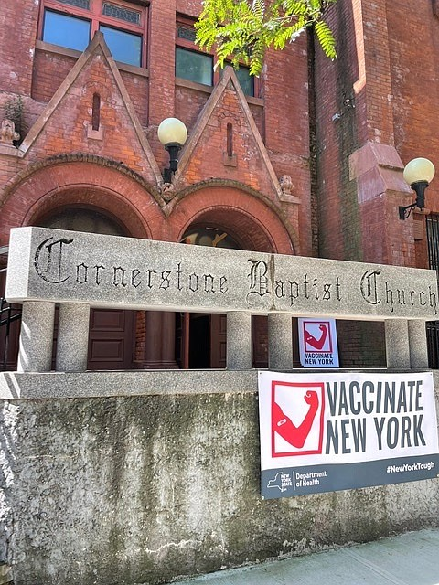 A church in Brooklyn isn't only turning to Jesus to save its congregation. It's using Pfizer, Moderna and Johnson & ...