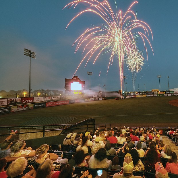 Crowd Pleaser/There's nothing like fireworks to draw a crowd. More than 9,000 people packed. The Diamond last Saturday during the Richmond Flying Squirrels' Fourth of July weekend home stand against the Binghamton Rumble Ponies Ponies of New York. After the Squirrels' 2-1 win over the Rumble Ponies Saturday night, the celebration continued with a colorful fireworks display that was visible far outside the stadium.